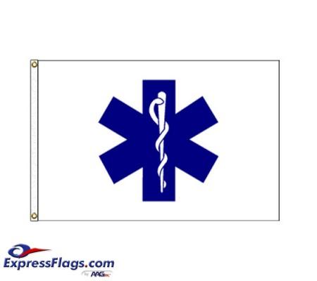 Star Of Life Flag - 3  x 5  Endura-Nylon070288