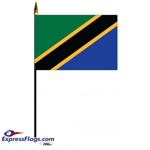 Tanzania Mounted Flags - 4in x 6in034073