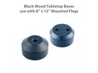 Black Wood Tabletop Flag Bases