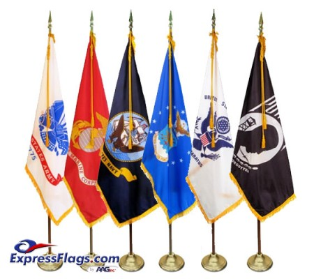3  x 5  Deluxe Indoor Military Flag Set (Choice of Flag)MMF35
