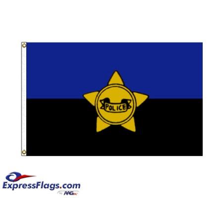 Police Remembrance Flag - 3  x 5  Endura-Nylon070323