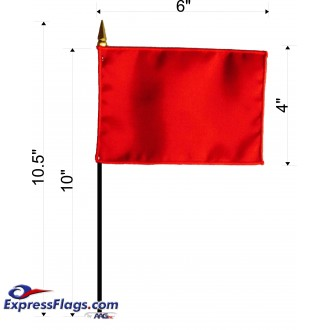 4in x 6in E-Gloss State & Territory Stick FlagsEG-ASMF-46