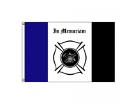 Fireman Mourning Flag - 3' x 5' Endura-Nylon
