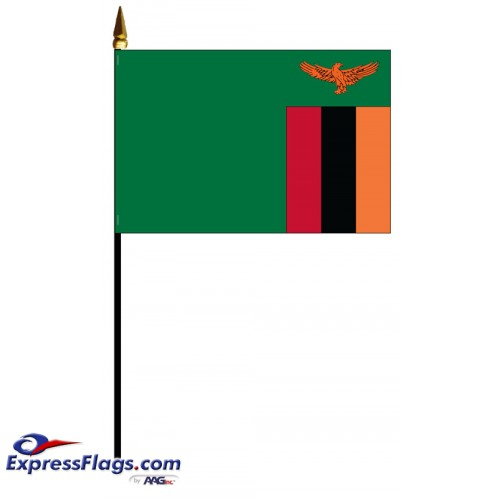 Zambia Mounted Flags - 4in x 6in034593