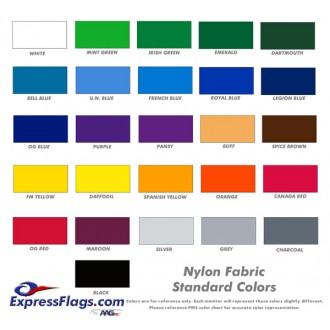 2-Horizontal Stripe Nylon Flags - RectangleNY-R2S