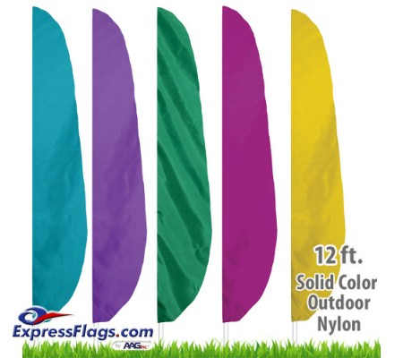 Nylon Solid Color Feather Flags - 12 Ft.NYL-FTHR12-SC
