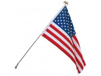 3' x 5' U.S. Flag & Flagpole Set - Wall Mount