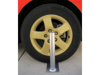 Collapsible Flagpole Wheel Stand