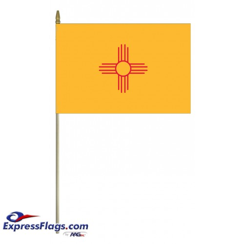Mounted New Mexico State Flags