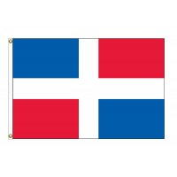 Dominican Republic Nylon Flags - (No Seal)