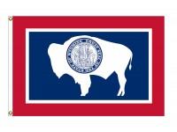 Nylon Wyoming State Flags