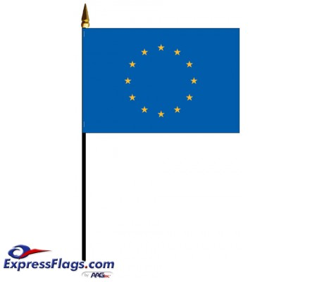 Europe Mounted Flags - 4in x 6in031451