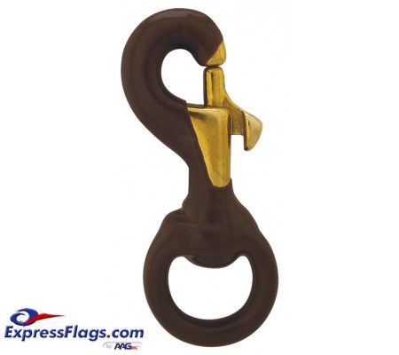 Brown Rubber Coated Brass Swivel Snaps350134