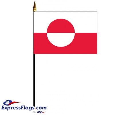 Greenland Mounted Flags - 4in x 6in031742