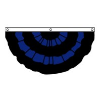 Nylon Pleated Mourning Fan 3' x 6'