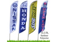 Custom Feather Flags - 13.5 Ft.