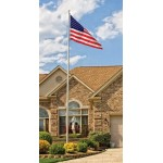 15ft. Pole & Flag Set - Homesteader Aluminum Residential Flagpole