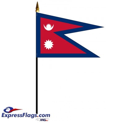 Nepal Mounted Flags - 4in x 6in032918