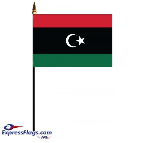 Libya Mounted Flags - 4in x 6in032442