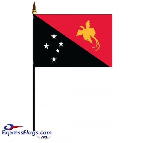 Papua New Guinea Mounted Flags - 4in x 6in033223