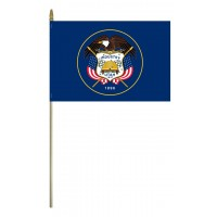 Mounted Utah State Flags