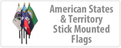 State Flags, Territory Flags - Stick Mounted