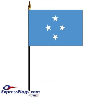 Micronesia Mounted Flags - 4in x 6in032719