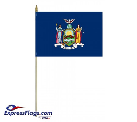 Mounted New York State Flags