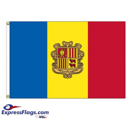 Andorra Nylon Flags with Seal - (UN Member)AND-NYL