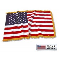 American Flags with Pole Hem and/or Fringe for Your Indoor Display