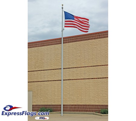 30 ft. Vanguard Aluminum Flagpole (0.156) - Internal HalyardECXAV30
