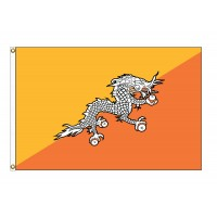 Bhutan Nylon Flags - (UN Member)