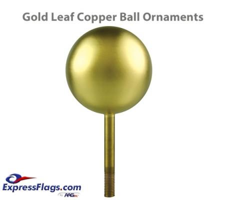 Copper Ball Outdoor Flagpole Ornaments - Gold Leaf FinishCB-GL