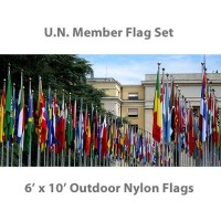 6' x 10' Complete U.N. Member Flags - 193 Outdoor Nylon Flags