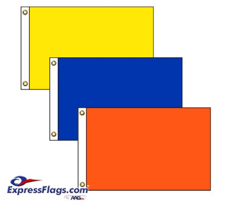 Rectangle Solid Color Nylon FlagsNY-R