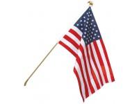 Economy U.S. Flag & Flagpole Set - Wall Mount