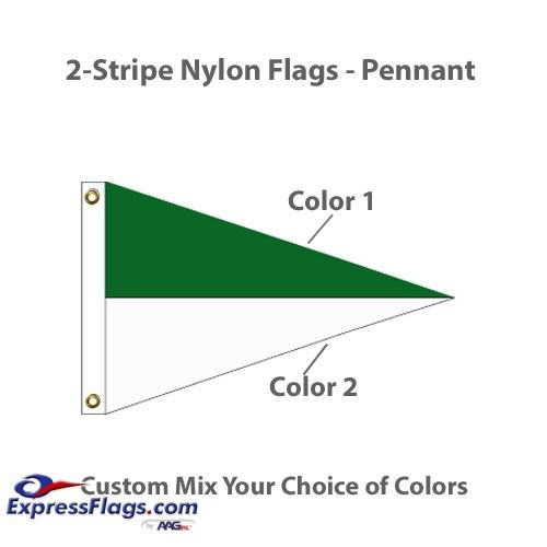 2-Stripe Nylon Flags - PennantNY-P2S