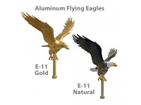 12in Aluminum Flying Eagle Outdoor Pole Ornaments - 11-1/4in Wing Span