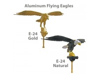10in Aluminum Flying Eagle Outdoor Flagpole Ornaments - 24in Wing Span