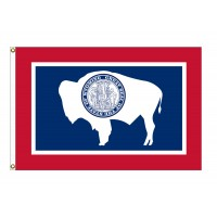 Nylon Wyoming State Flags