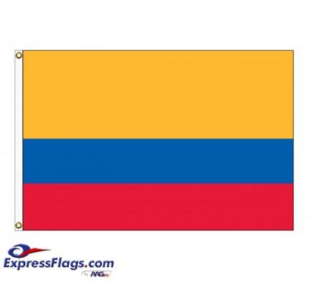 Colombia Nylon Flags  (UN, OAS Member)COL-NYL