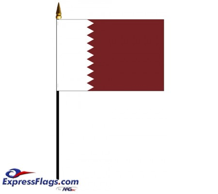 Qatar Mounted Flags - 4in x 6in033385