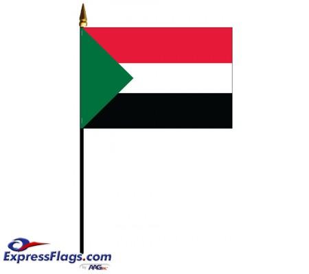 Sudan Mounted Flags - 4in x 6in033902