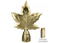 Metal Maple Leaf Ornament for Indoor Display Flagpoles