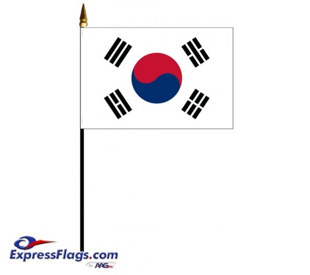 Korea, South Mounted Flags032302