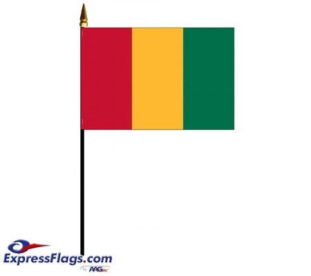 Guinea Mounted Flags - 4in x 6in031806