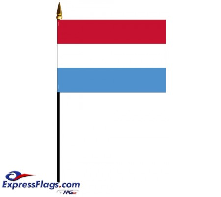 Luxembourg Mounted Flags - 4in x 6in032495