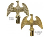 Plastic Slip-Fit Eagle Ornaments for Indoor Display Flagpoles