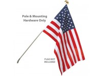 Wall Mount Residential Flagpole Sets - No Flag