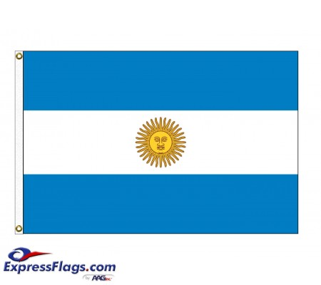Argentina with Seal Nylon Flags (UN, OAS Member)ARG-NYL